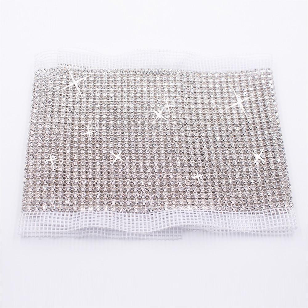 24 Rows Rhinestones Strass Mesh 5 Yards Ss18 4 2mm Crystals Glass Rhinestone Trimming non Tot