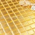 Стеклянная мозаика из чистого золота 20х204 мм для кухни  фоновая A5W01-20-4