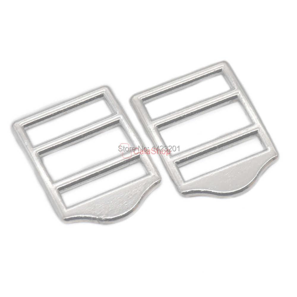 10/25/60/100 pçs/lote 22mm Ajustador Triglides Lâminas de Liga de Zinco Fivela de Cinto Suspender Ombro bagagem alça da mala Escada Glide