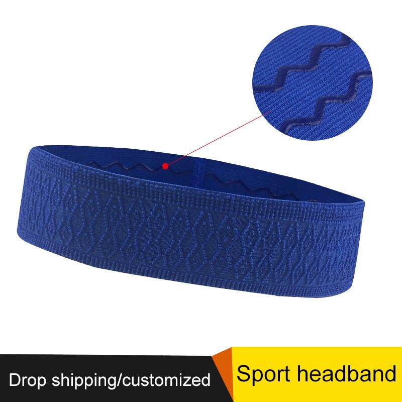 Women Yoga Hair Bands Sports Headband Silicone Anti slip Elastic Sweatband Running Tennis Headscarf Outdoor Sport Hairband in Sweatband from Sports Entertainment