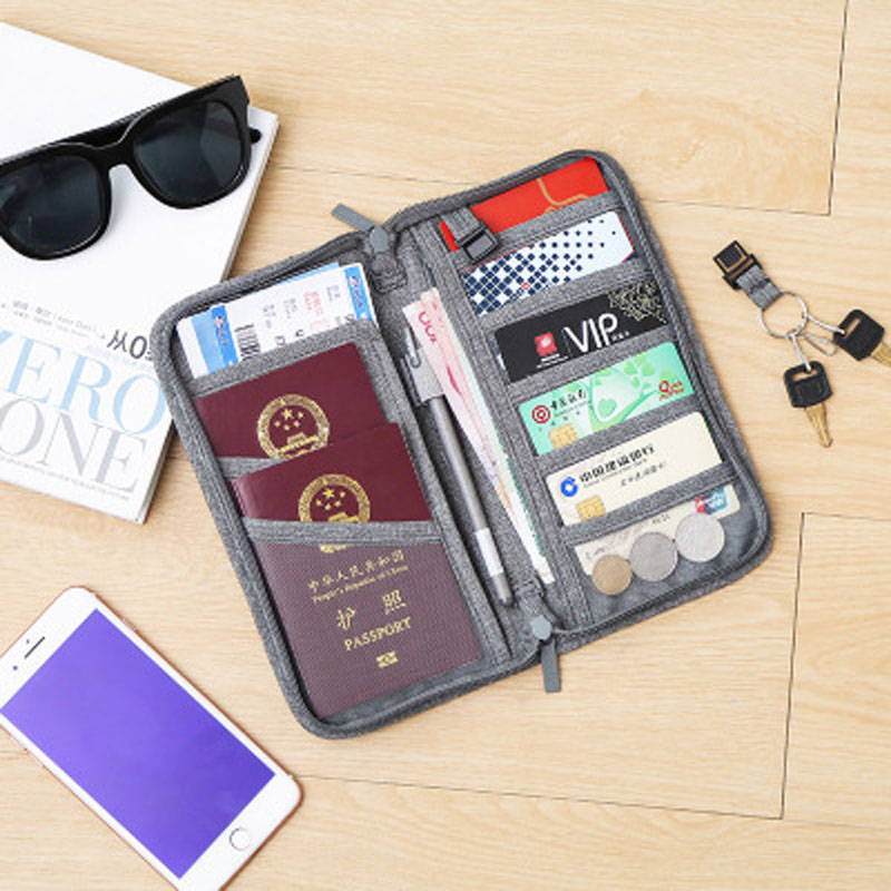 OKOKC Solid Colors Passport Credit Card Cover Bag Passport Protective Cover Document Receipt Package Passport Holder