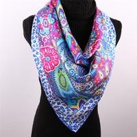 Blue Paisley Islamic Scarves Designer Brand Fashion Luxury Scarves Women Accessories Head Wrap