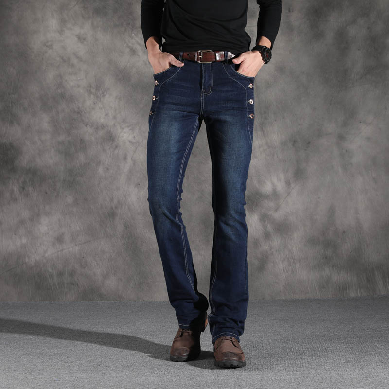 Image 5 - ICPANS Boot Cut Flared Jeans Men Vintage Stretch Regular Fit  Jeans Male Casual Mens BootCut Jeans Men Trousers 2019 Fashion  BlueJeans