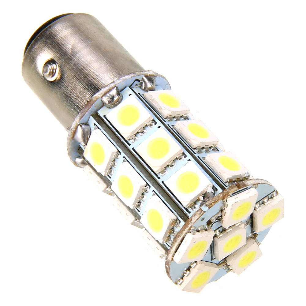 1157 BAY15d P21//5W CANBUS 27 SMD LED STOP//TAIL bulbs WHITE LAND ROVER