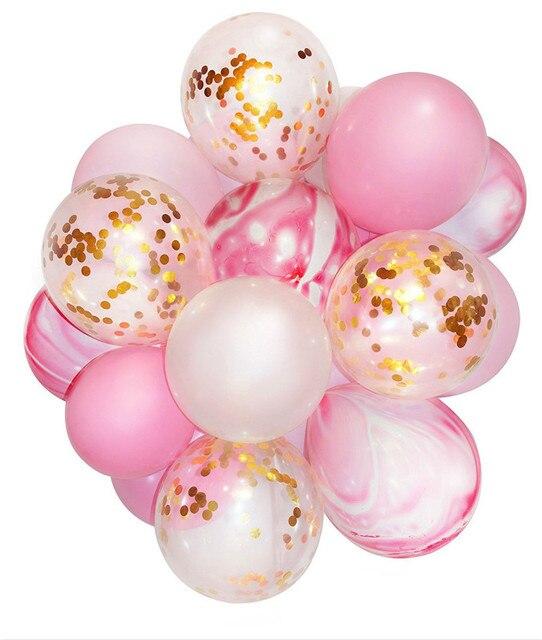"""Roze en Goud Party Decoratie Marmeren Confetti Ballon (verdikte 12 """"20 stks) voor Bruiloft Verjaardag Gender Onthullen Party Photobooth"""