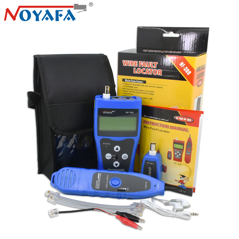 Original Noyafa NF-308 RJ45 UTP STP Cat5 Cat6 Diagnose Tone Tool Kit Line Finder Telephone Wire Tracker LAN Network Cable Tester noyafa professional nf 806 network wire tracker telephone wire finder portable handheld rj45 rj11 lan cable testing tool