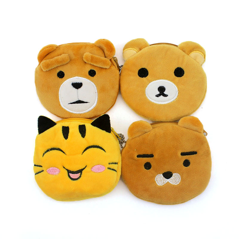 Hot on Sale Cute Teddy Bear Zipper Coin Purses Women Cartoon Coin Wallets Ladies Makeup Storage Bag Mini Handbag Card Holder 2017 hot sale character mini wallets kids plush bag women cartoon coin purses ladies zipper pouch
