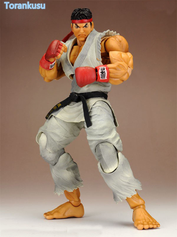 Street Fighter Action Figure Ryu Play Arts Kai PVC Figure Toy 230mm Game Street Fighter Shouryuukenn Collection Model Doll PA27 saintgi street fighter v ken bigboystoys with light action figure game toys pvc 16cm model kids toys collection