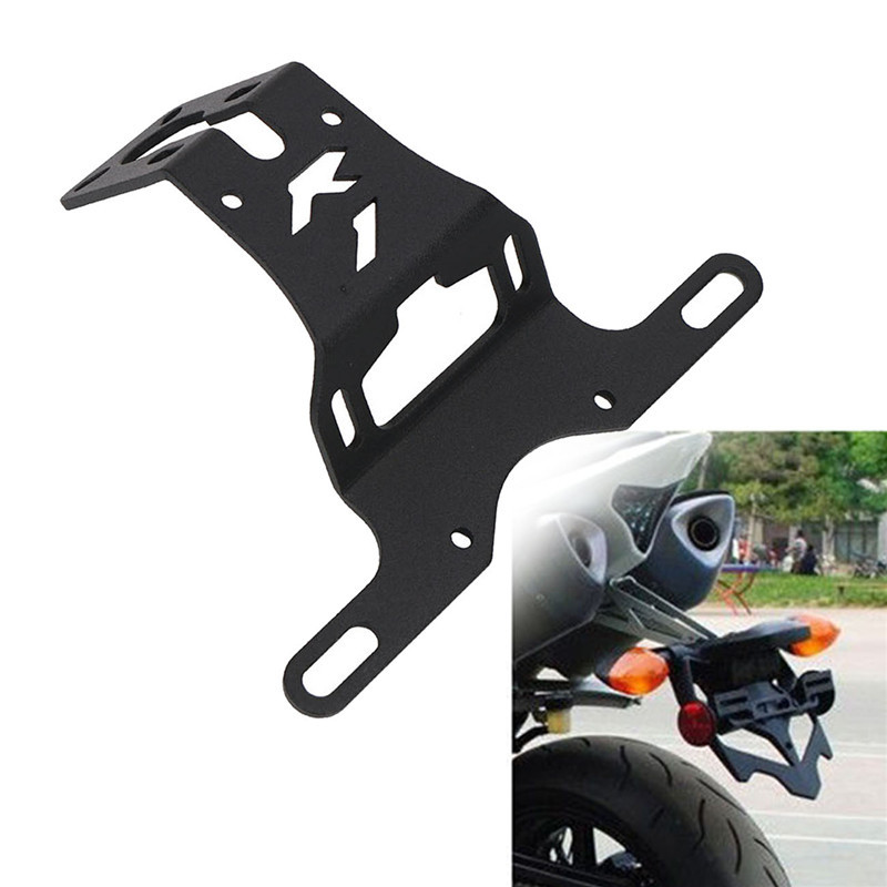 Motorcycle Fender Eliminator License Plate Bracket Holder Hanger Tail Tidy Bracket Light for Yamaha YZF R1 Logo 2004-2015 C/5 motorcycle tail tidy fender eliminator registration license plate holder bracket led light for ducati panigale 899 free shipping