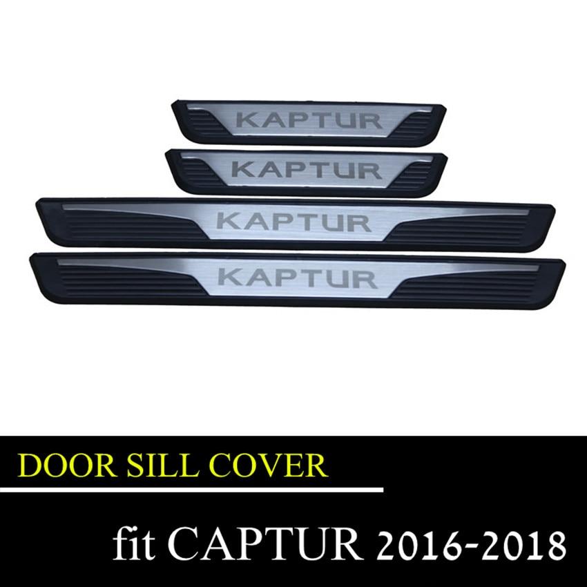 Captur Kaptur 2016 2019 Door Sill Cover Trim Stainless Steel Scuff Plate Door Sill For Renault