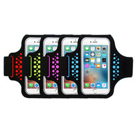 New 4 Colors Outdoor Waterproof Sports Gym Running Jogging Armband Phone Case Cover Stand Fits For