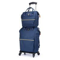 travel backpack trolley bag with wheels luggage portable trolley women Handbag lightweight large capacity suitcase Carry on bags