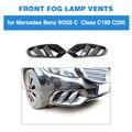 Углеродное волокно/FRP передний бампер вентиляционное отверстие отделка сетка решетка рамка для Mercedes-Benz W205 база седан C180 C200 2015 - 2018 C Класс