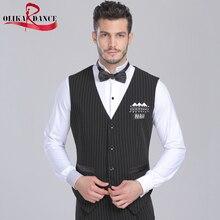 Male adult dance clothes top trigonometric short design vest /ballroom dancing vest