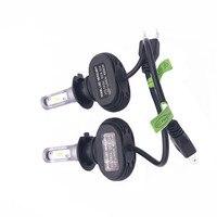 2pcs S1 H7 Car LED Headlight Bulbs 50W 8000LM IP65 CSP Chips LED Headlights All In