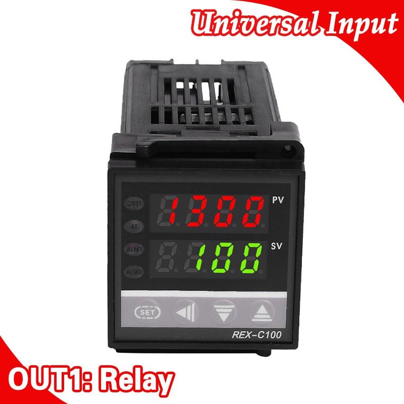 48 * 48mm digitální termostat termostatu K / J / E / S / R / PT100, reléový výstup pro inkubátor vajec