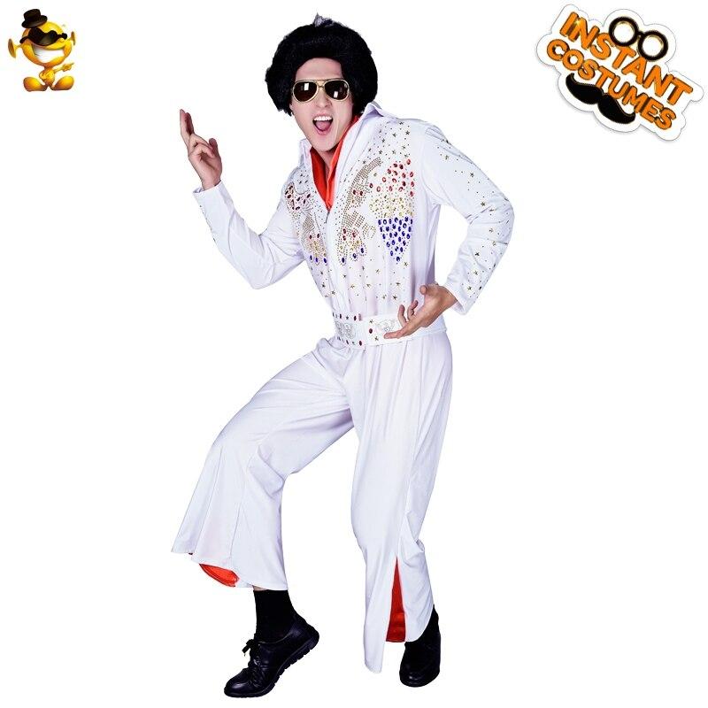 Nuovo Arrivo degli uomini di Età di Elvis Presley Vestito Operato Dal Costume Divertente Elvis Presley Tuta per la Festa di Carnevale Costumi