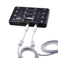 Sipolar 16 Ports Industrielle USB2.0 Hub pour TF SD Lecteur De Carte U-disque Données Test Lot Copie-Noir
