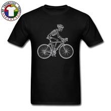 Skeleton Skull Biker Mountain Design T Shirts 3D Summer/Autumn Cotton Crewneck Men Tops Shirt Loose Casual