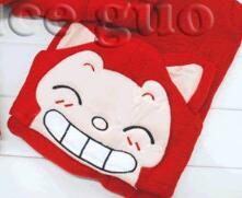 Игрушек! Супер милые плюшевые игрушки мультфильм Медведь Лиса Али остроумные выражения с капюшоном халат-накидка на день рождения Рождественский подарок 1 шт - Цвет: style 1