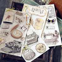 handmade vintage stickers for scrapbooking 3D layered stickers embellishments