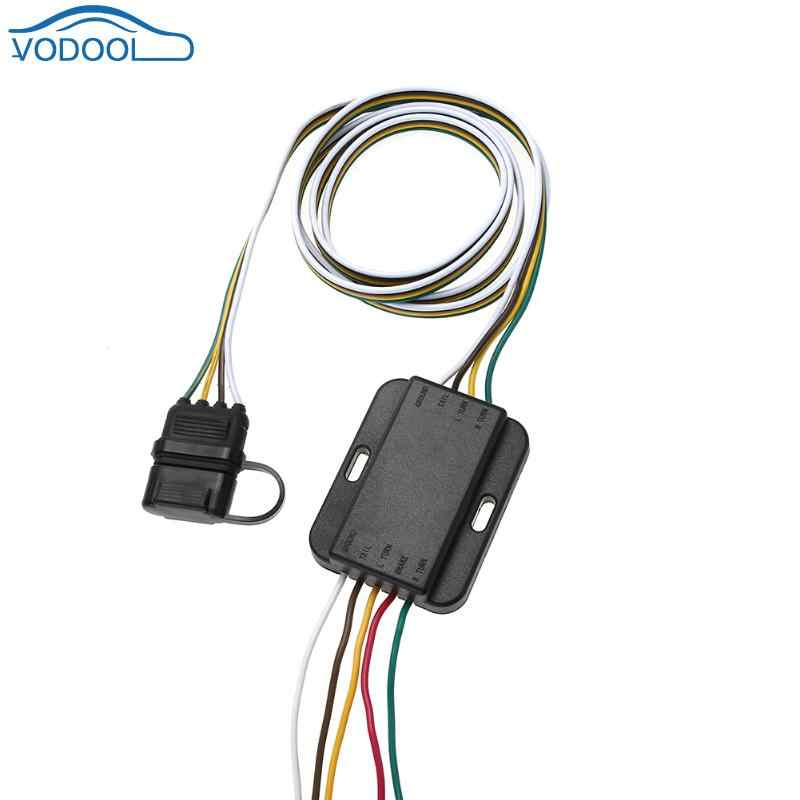 PVC 12V 4Pin US Trailer Hitch Wiring Tow Harness Power ...  Pin Trailer Plug Wiring on