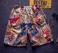 2016 Nuevos hombres de moda casual cortos pantalones cortos de verano Pantalones cortos de playa masculino