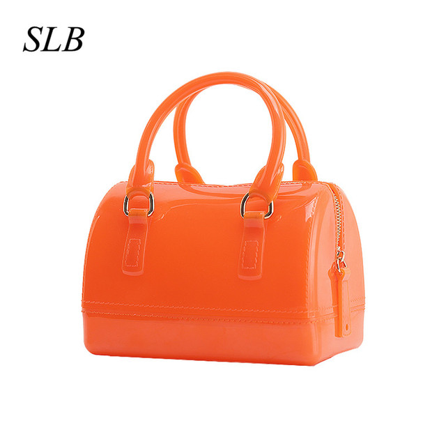 ad5c4665e4 2018 New Summer Fashion Trend Jelly Mini Candy Satchel Tote Bag Mini Size  Pillow Bags Mail bag Child Female Handbags