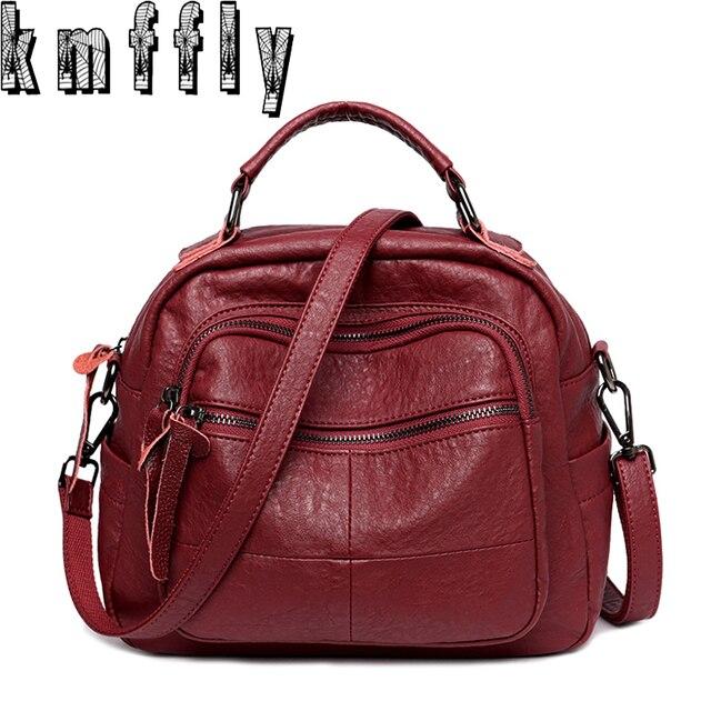 KMFFLY 2018 Fashion Zipper Women Bag Luxury Brand Women Messenger Bags  Ladies Handbags New Woman Leather Handbags Sac Mosaic