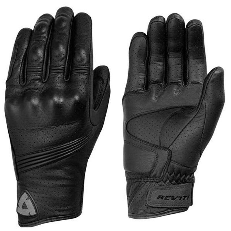 Summer Motorcycle Gloves Moto Leather Full Finger ...