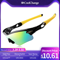 CoolChange Cycling Glasses Polarized Sunglasses Road Bike Outdoor Sports Goggles 5 Groups of Lenses Bicycle Eyewear Myopia Frame