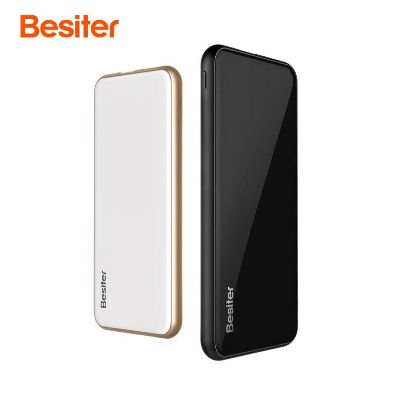 Besiter 10000 mah Power Bank pour Téléphones Mobiles Batterie Cellule Externe Batterie Chargeur Ultra Mince Batterie Chargeur pour Xiaomi Ipone