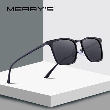 Merrys 디자인 남자 스퀘어 편광 선글라스 야외 스포츠 울트라 라이트 시리즈 uv400 보호 s8131 운전에 대 한