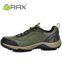 RAX Outdoor Hiking Shoes Woman Genuine Leather Waterproof Hiking Shoes Men Lightweight Trekking Mountain Climbing Shoes