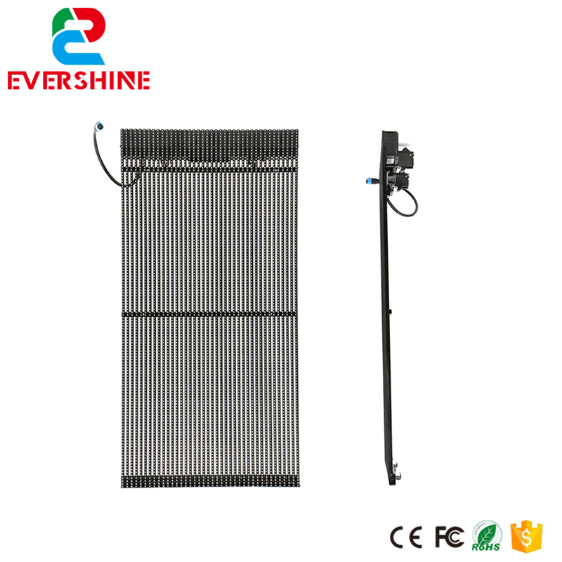 rgb module landscape lighting grille panel CP7S led display outdoor advertising video transparent screen led advertising display screen diy kits p16 outdoor rgb led panel 1 pcs jn power supply 1 pcs contrller all cable