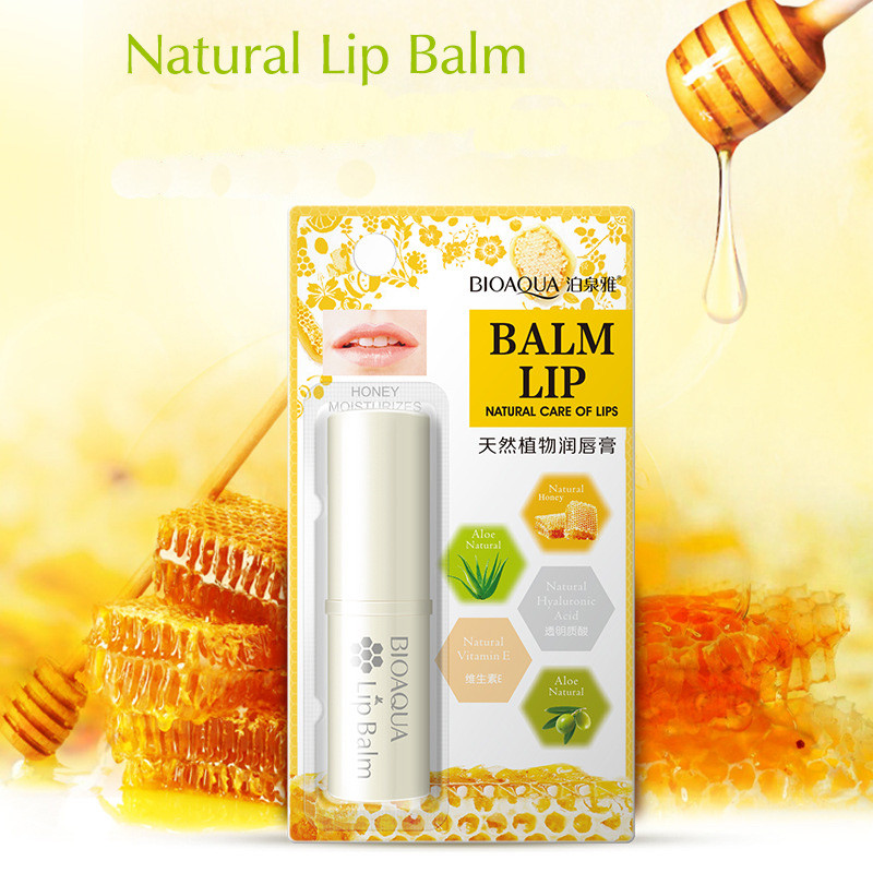 Honey Aloe Lip Balm Moisturizing Mild Brighten Lipbalm Makeup Colorless Refine Repair Wrinkles Women Skin Care