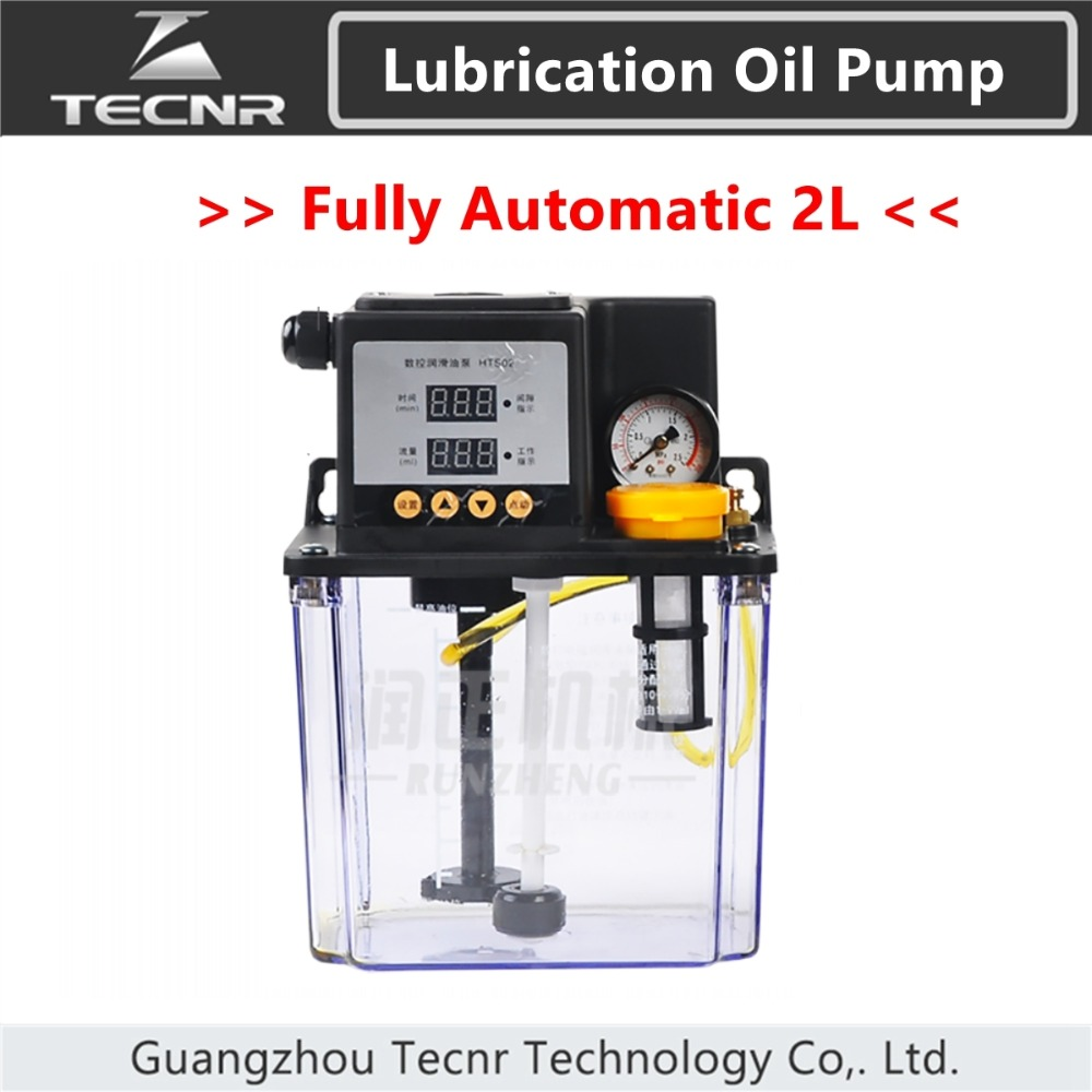 TECNR fully automatic lubricating oil pump 2L Liters cnc electromagnetic lubrication pump lubricator HTS02