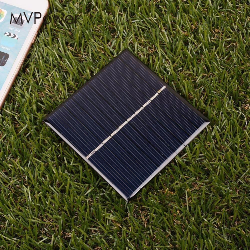 1Pcs Mini Portable 0.8W 5V Epoxy Solar Panel DIY Battery Charger For Light Battery Phone Portable Home Travelling