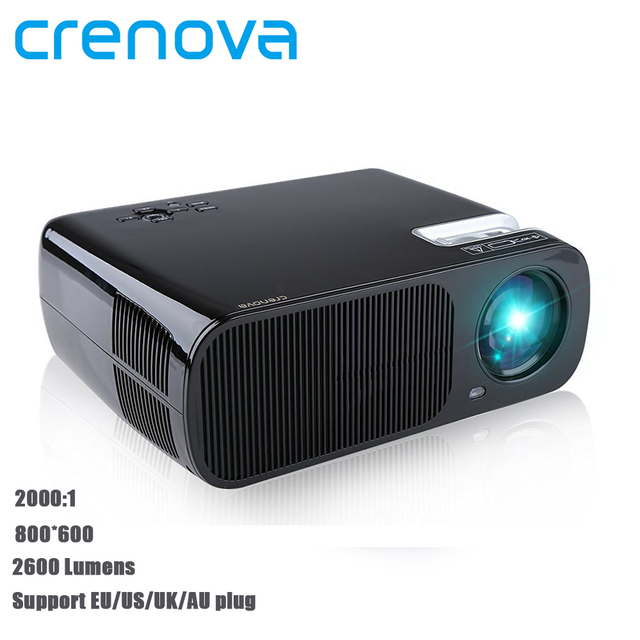 Crenova XPE600 1080P HD 3D Projector 2600 Lumens 5.0 Inch LCD TFT Display Home Cinema Projector