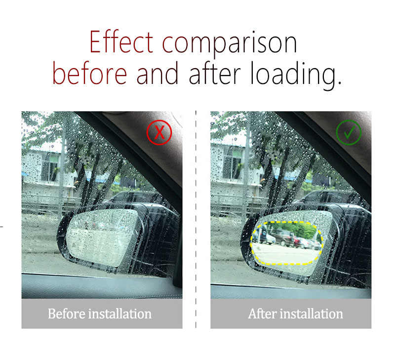 2 piezas Anti niebla impermeable pegatina de coche película para espejo retrovisor para Mitsubishi RalliArt Lancer Ralli Art 10 Asx accesorios de estilo de coche