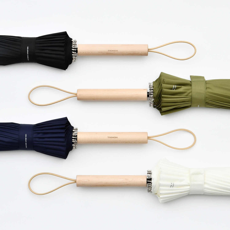 Tiohoh 24K длинный зонт дождь для женщин сильный Ветрозащитный японский стиль клен дерево зонты для мужчин Paraguas гольф прозрачный зонтик большой