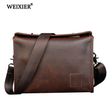 WEIXIER 2019 PU Leathe Business Men Brand Fashion Men
