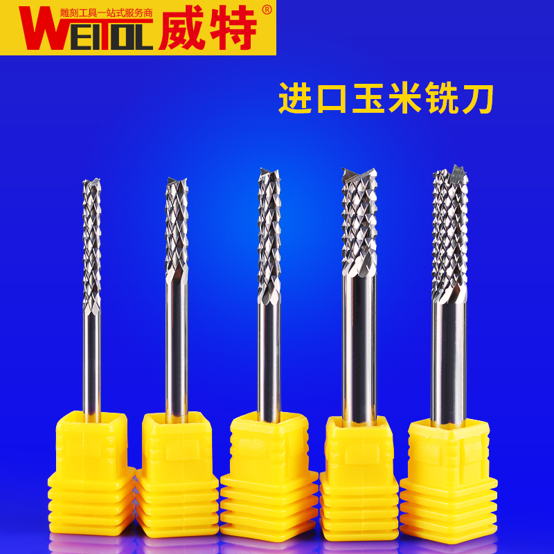 Weitol 3A 1 pc  3.175/4/6mm Tungsten steel Corn Cutter Cement board  Hardwood PCB cutting CNC Router Bits weitol 5a 1 pc  3 175 4 6mm tungsten