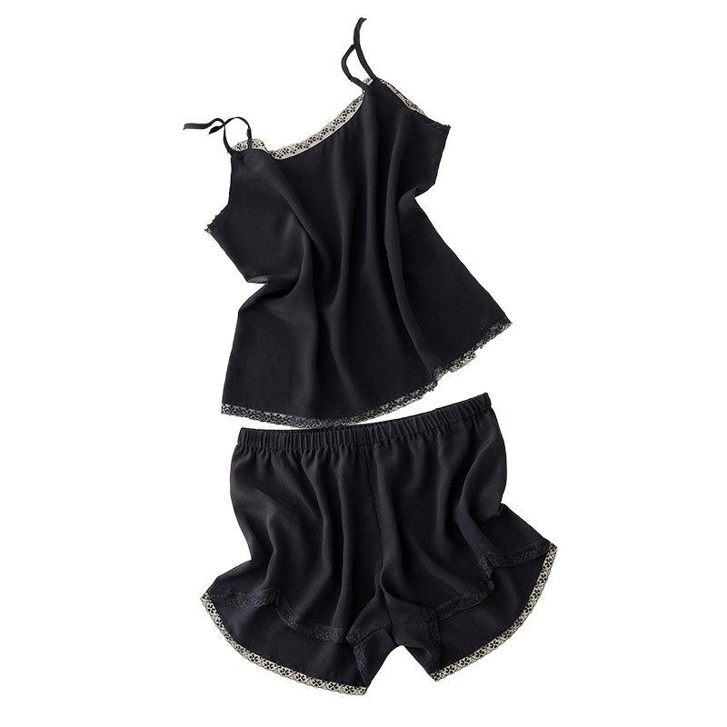 Women s Pajama Suit Vest Shorts 16 Momme 100 Nature Silk Heavy Silk Crepe de Chine