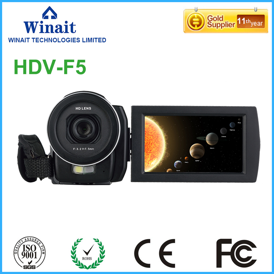 Camcorders Digital Video Camera With Dual Solar Charging Function White Led Light Function Latest Collection Of Winait 2017 Anti-shake Hdv-t90 Camera & Photo