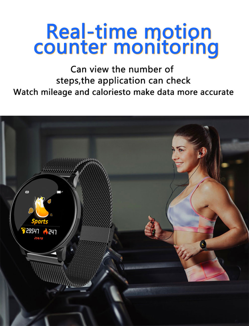e freqüência cardíaca tela de toque smartwatch