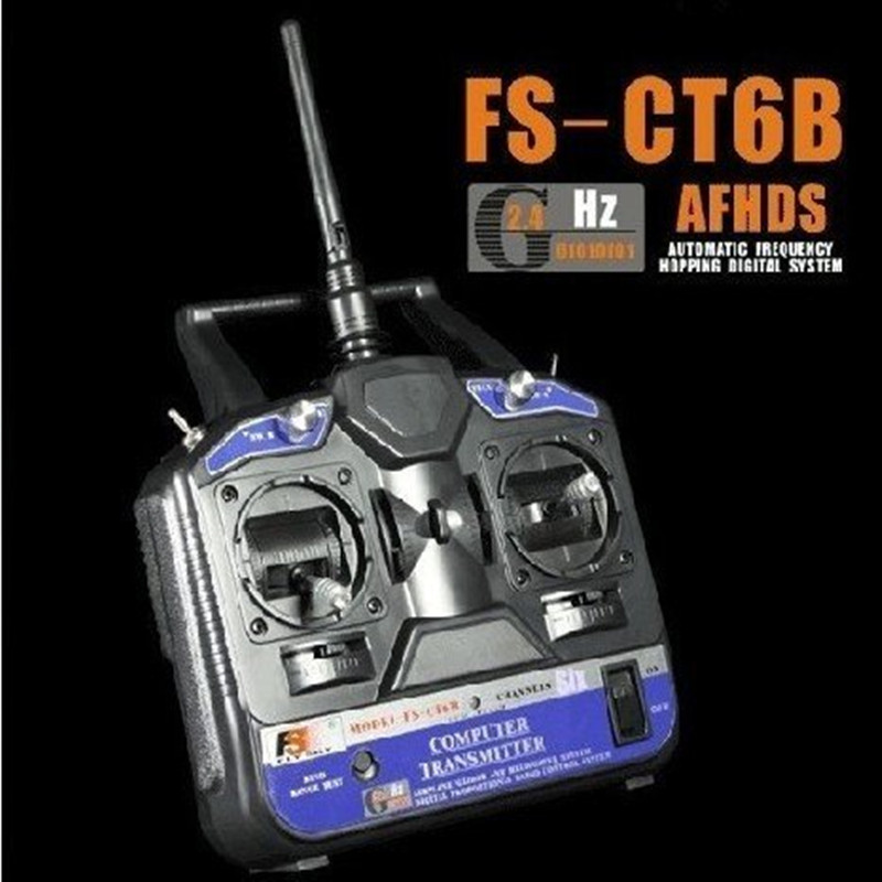 FlySKY FS 6CH 2 4G FS CT6B RC Transmitter 6 channel No receiver Remote Controller for
