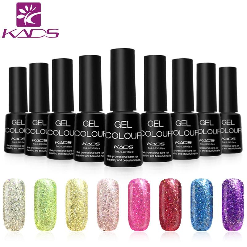 KADS 7ml Neon Nail Gel Polish Rainbow Nail Glue Soak Off