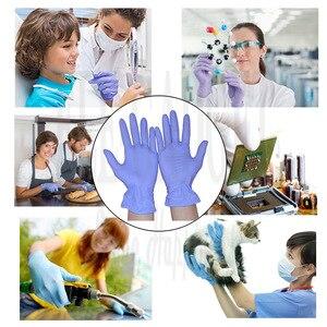 Image 5 - 100 יח\קופסא Nitrile כפפות עמיד למים חד פעמי עבור קעקוע רופא שיניים מזון תהליך ניקוי ידיים הגנה לעבוד כפפות