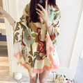 2015 New Designer Luxury Brand Jersey Cotton Scarf Shawl for Women Spring Autumn Large Floral Scarves Echarpe